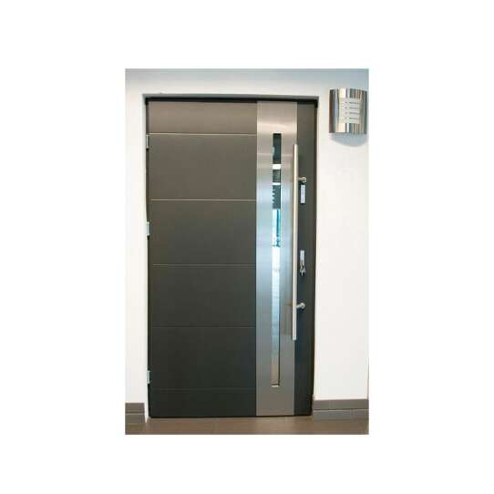 China WDMA Main Door Designs Iron Double Front Entry Door Steel Modern Door Design