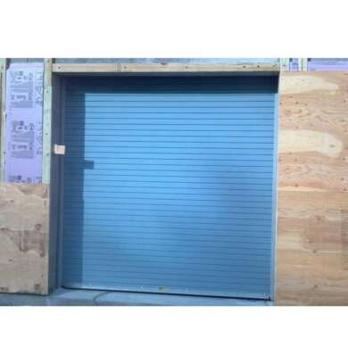 WDMA Modern 8x7 Automatic Aluminum Rolling Shutter Patio Sandwich Panel Stacking Roll Up Garage Door Sectional