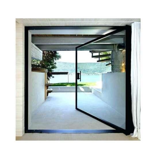 WDMA Modern Aluminium Glass Pivot Front Entry Doors Designs For House