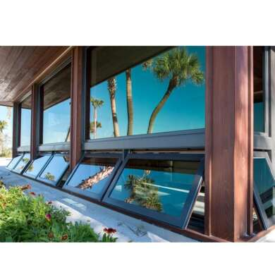 WDMA New Products Double Glass Aluminum Awning Windows
