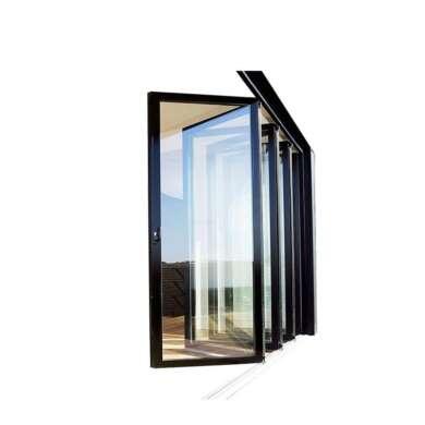 WDMA Nfrc Bulletproof Glass Aluminium Bifold Doors With German Hardware