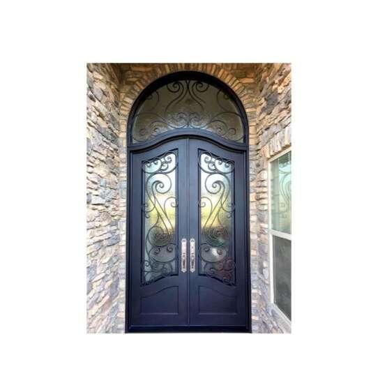 WDMA wrought iron security door exterior wrought iron door