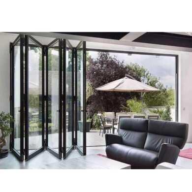 WDMA Oem White Smart Slimline Aluminium Bifold Doors Commercial Use
