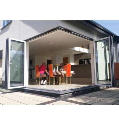 WDMA Outdoor Aluminium Folding Door With Toughened Glass aluminium Bi Fold Doors