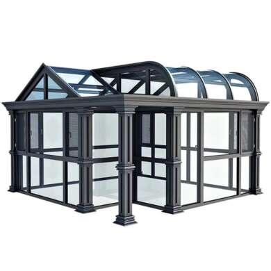 WDMA Outdoor Lowes Prefabricated Aluminium Frame Patio Glass Garden Room Enclosure Sunroom Conservatory