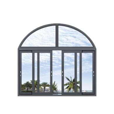 WDMA Pictures European Euro Profile Domestic Double Glazed Arched Grill Design Aluminium Windows And Doors Sliding