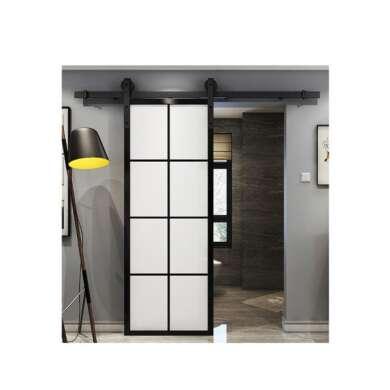 WDMA Powder Coated Aluminum Sandblast Glass Sliding Door System For Bathroom