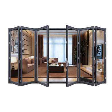 WDMA Puertana Soundproof Aluminium Folding Glass Door Price With Australian Standards As2047