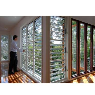 WDMA Residential Aluminum Tinted Double Glazed Glass Louvers Jalouzie Jalousie Window Shutters Sizes Prices