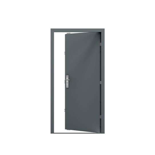 WDMA Security Doors Modern Exterior Front Entrance Doors Double Steel Entry Doors