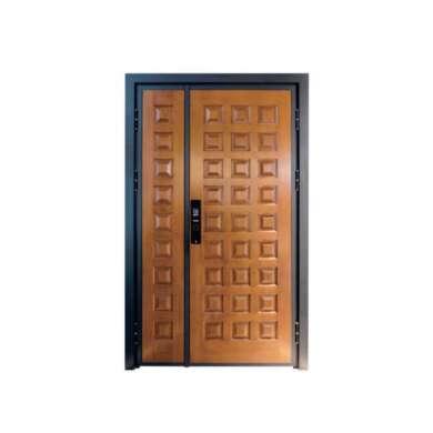 WDMA Shop Front Exterior Aluminium Steel Outside Single Leaf Security Door