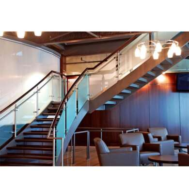 WDMA Side Mounted Balcony 10mm Thick Frameless Tempered Glass Staircase Railing Design Price