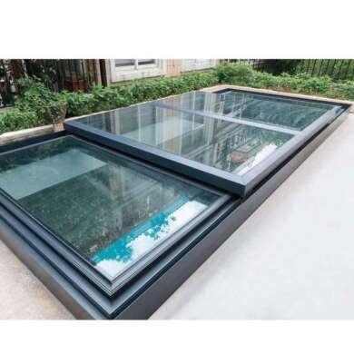 WDMA Silver Single Pane Aluminium Roof Dome Windows