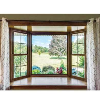 WDMA Sound Proof American Style Aluminum Clad Wood Tilt And Turn Window White Powder Coating