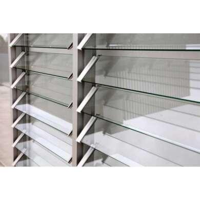 WDMA Soundproof Aluminium Vertical Jalousie Glass Louver Window Shutter