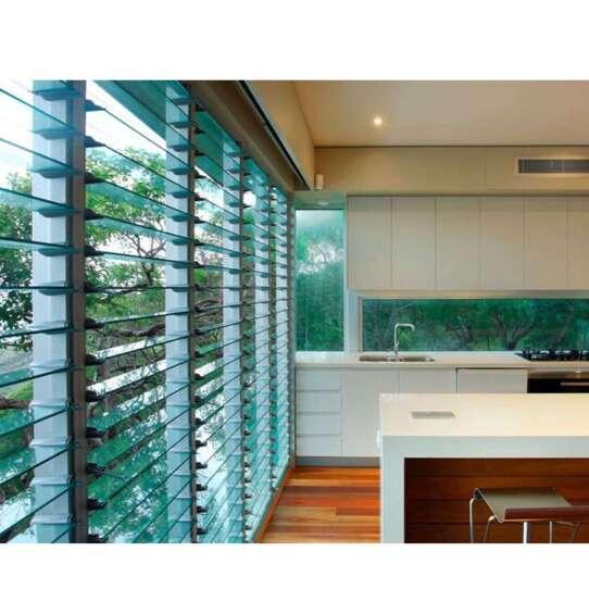 China WDMA Soundproof Aluminium Vertical Jalousie Glass Louver Window Shutter