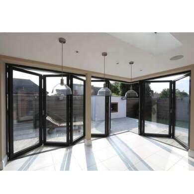 WDMA Soundproof Glass Sliding Multi-bi Folding Glass Doors Insulated Patio System