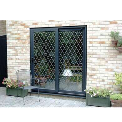 WDMA Stainless Steel Security Mesh Aluminium Cheap Sliding Door With Double Glass Panel