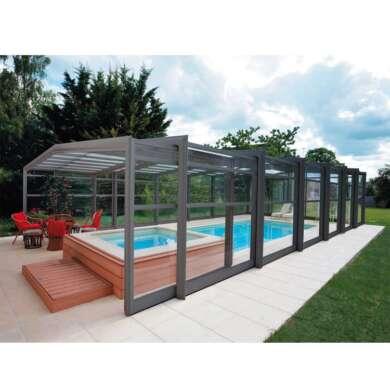 WDMA Telescopic Retractable Lean To Sunroom Enclosure Outdoor Sliding Pool Cover Enclosures