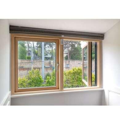 WDMA Timber Oak Clad Alu Casement Window On Sales