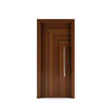 WDMA Ul Fire Rated Color Interior Security Mdf Wooden Single Door With Glass Window Frame And Groove Design Applicable To Hotel Room