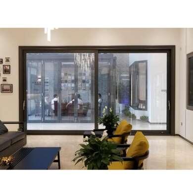 WDMA Villa Watertight Waterproof Exterior Outdoor Smart Lock Veranda Entry Aluminium Sliding Door With Grill Design Price