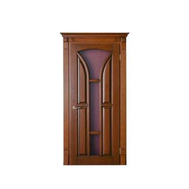 WDMA Waterproof Mdf Designed Wooden Entrance House Door With Opening Window In Exterior