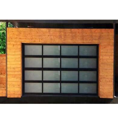 WDMA Waterproofing Sandwich Panel Sectional Bi Folding Accordion rollup Glass Garage Door Swift Garage Door Systems prices