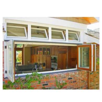 WDMA Wholesale Aluminium Residential Storefront Accordion Bi-folding Sliding Window Price