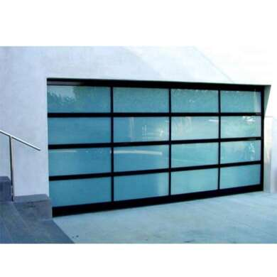 WDMA Wholesale Automatic Remote Control 16x7 Golf Cart Aluminum Transparent Clear Glass Garage Door Manufacturer