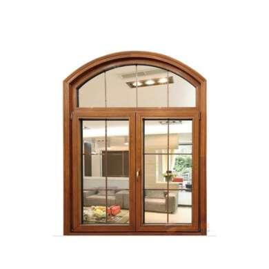WDMA Wholesale Glass Door Window Aluminium Clad Wooden Hinged Windows Factory