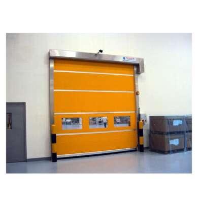WDMA Wireless Sensor Safety Airbag Zipper Pvc High Speed Storage Rollup Door